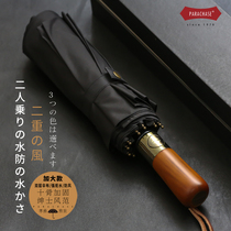 Japanese ten bone double layer 114CM simple oversized windproof aluminum bone business automatic three folding men and women clear umbrella
