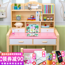 Children solid wood learning table home child desk desk chair set simple girl desk primary school students desks and chairs