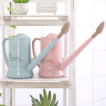 Nordic long mouth watering pot watering flower gardening tools pot watering can watering can shower pot plastic home gardening