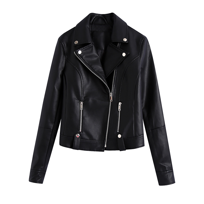 ONLY ROMANTIC21 spring new slim wild was thin leather short jacket top female 120310015
