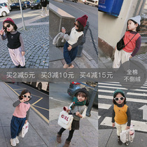 Big ear Elephant childrens clothing shop girls cotton Printing Pure color vest 2018 autumn and winter new thickening inside the sleeveless top