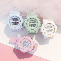 Ins matcha green watch female high school student Net Hongsen unicorn Korean version of the simple girl Heart Harajuku electronic watch