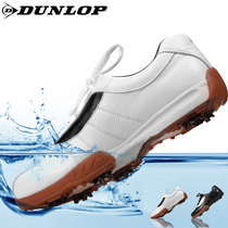 British Dunlop official genuine golf shoes mens cowhide golf breathable wear-resistant golf shoes