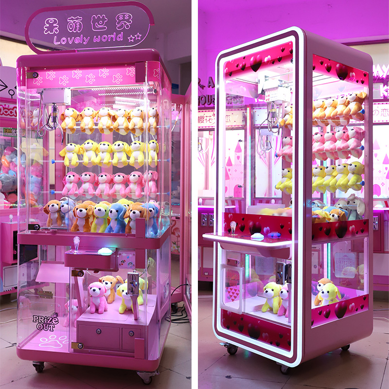 Transparent scanning code hanging catch doll machine scissors machine large fishing catch smoke machine Commercial clip doll machine coin clip smoke machine