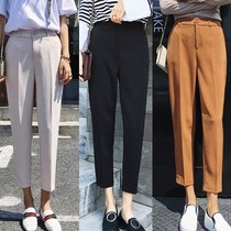 Smoking tube pants Hundred women's trousers 2018 spring and summer women's trousers high waist little feet trousers Nine pants