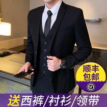 Korean version of the suit suit men slim business casual professional dress wedding groom small suit jacket jacket tide