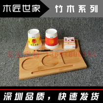High-end hotel Business Bamboo Cup mat creative Fashion Conference solid wood double Kongsankong Cup bracket office Supplies customization