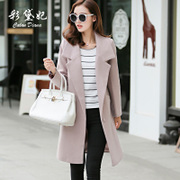 Autumn and winter season selling 2017 Korean women's wool coat slim female size in the long section of thick woolen coat