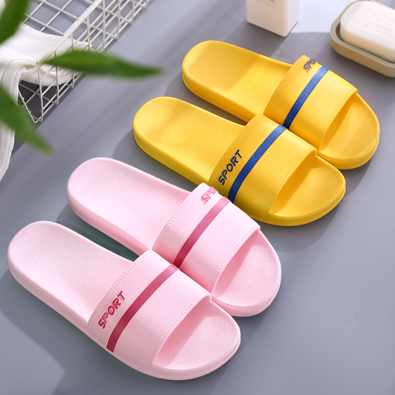 2020 new hotel home slippers womens summer indoor home bathroom bath quick dry anti-slip sandals mens summer