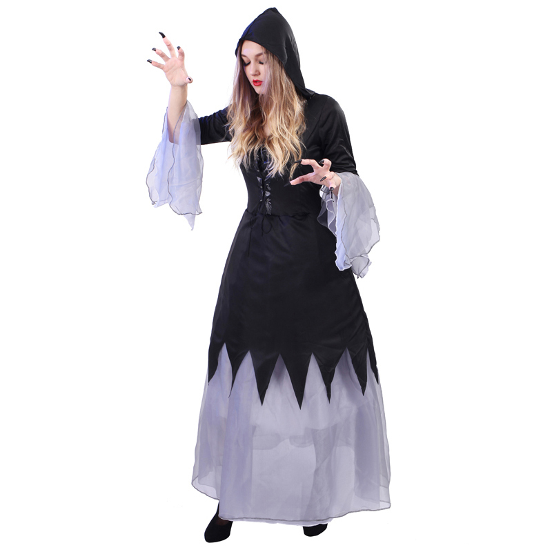 Cosplay Clothes,Halloween Clothes,Halloween cosplay costume, adult masquerade witch suit, hernia witch, long skirt, princess dress