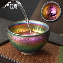 Jianyang Jianjian tea cup is handmade with color gold oil drop golden cup bowl Tianmu iron mould tea cup master cup single cup