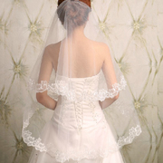 The new 2017 veil love beauty Bride Wedding Lace all-match custom wedding veil can be simple