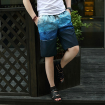 Korean mens plus size relaxed summer trends in summer shorts