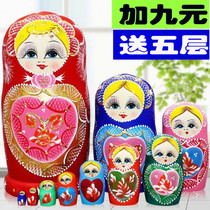 Russian set 20-storey 10-storey authentic toy lime wood air-dried pure hand-painted jitter sleeve 10 layer 07