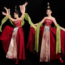 Beauty off dance costume Classical dance performance costume Female elegant Tang Huzi skirt King poetic with the same Hanfu art test