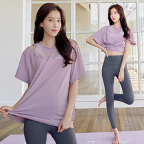 2021 summer new temperament fairy yoga suit professional training quick-drying gym sports suit womens running suit