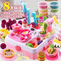 Childrens plasticine mold Tool Set ice cream color mud noodle machine toy girl handmade like super light clay