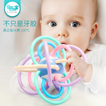 Baby toys that can bite 3-6-12 months 4-5 puzzle girl baby rattle soft rubber newborn boy