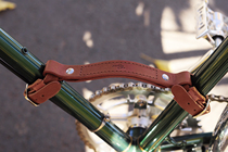 Gyes Pure handmade bicycle leather hand retro bicycle pure leather accessories carrying car handle