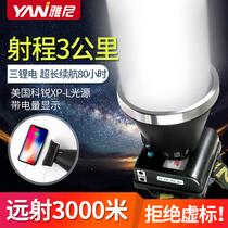 Yanni LED head light lumineux rechargeable ultra-lumineux tête-monté lampe de poche en plein air au lithium longue durée de vie lampe de mineur