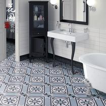 Nordic Retro art flower small tiles tile 200x200 kitchen Bathroom anti-skid brick wall brick flower slices