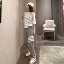 Sports suit womens summer 2021 new thin Western style fashion casual two-piece summer small mens fashion trend