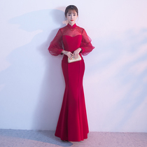 Winter wine Red Chinese fish tail toast Clothing