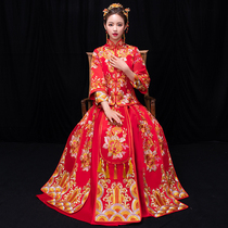 Xiu wo dress bride 2018 new winter wedding Chinese costume marriage dress reception wedding dresses toast clothes