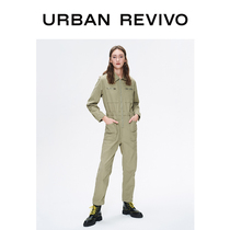 UR2020 spring new youth womens workwear fashion casual cotton jumpsuit YV09SBAF2000.