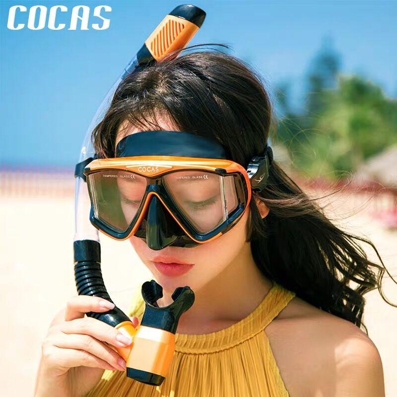 Diving mirror snorkeling sanbao set full-dry breathing tube myopia adult glasses diving mask swimming equipment