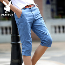Playboy thin models young Korean version of the trend slim fit beach pants
