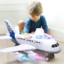 Childrens toys airplane boy baby oversized music drop inertia toy car simulation aircraft model A380