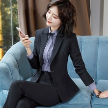 2009 New Professional Suit Women's Suit Fashionable Temperament Formal Suit College Students Interview Suit Workwear