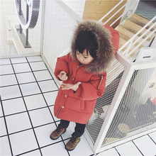 Children's winter baby coat 2017 new winter thickening hooded men and women cotton jacket down cotton coat