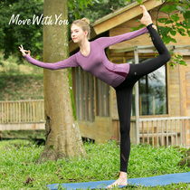 Yoga Set Girl 2020 New large size professional high-end yoga suit temperament fairy long-sleeved beginner yoga suit