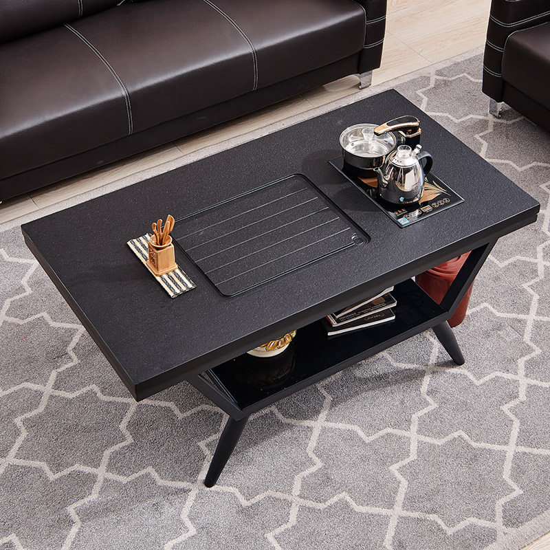 Tea table fire stone table and chair combination modern simple set one small living room home office kung fu teapot