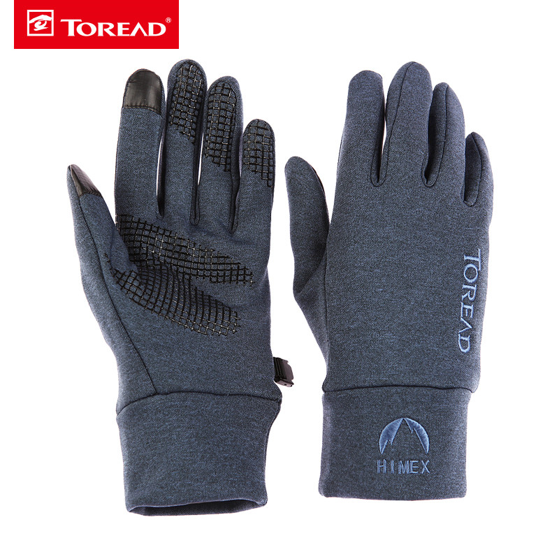 Pathfinder Autumn New Outdoor Men's and Women's General Elastic Fleece Slim Gloves