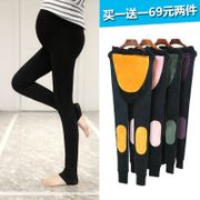 Pregnant women in autumn and winter warm pants Leggings with velvet trousers thick 2017 new trousers in winter pregnant belly support