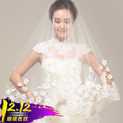 Korean lace veil 2017 new bride wedding dress accessories 3 meters long tail soft veil