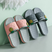 Slippers summer indoor non-slip female Summer couple bathroom bath Korean version of a pair of cute home home slippers