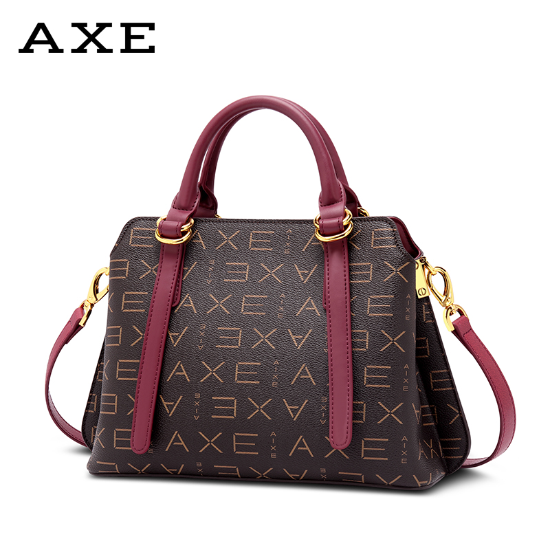 AXE handbags shoulder bag Messenger bag 2018 new autumn and winter Korean middle-aged ladies bag simple wild