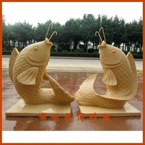 Sandstone sculpture Hotel Villa indoor and outdoor landscape fountain decorative ornaments-water spray carp