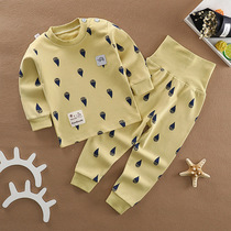 Baby autumn autumn pants suit cotton childrens underwear baby clothes high waist belly pants girls spring and autumn boys
