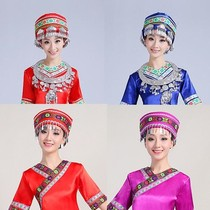 Yi headdress female hat Liangshan ethnic Miao Zhuang Yi women and children perform the square dance collar