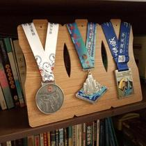The competition results are small waist medal hanger photo frame medal collection to show the marathon cross-country running award display table.