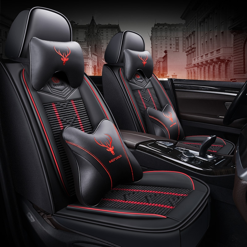 Car cushion four seasons GM 2020 new net red car seat cover ice wire all surrounded by car cushion seat cover summer