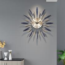 Часы настенные часы для гостиной творческие современные минималистские часы личность атмосферная домашняя мода арт-деко скандинавские настенные часы