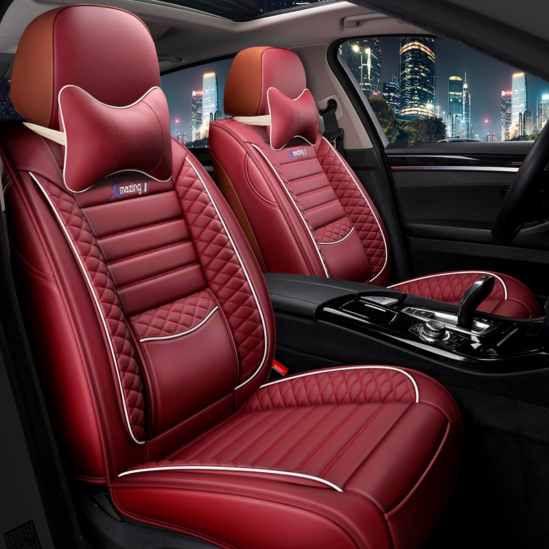 Volkswagen speed full surround car seat cushion all-inclusive seat cover four seasons universal seat cover 2019 new 19 leather seat cushion