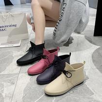 Корейская мода дождевая обувь женские короткие дождевые сапоги с низкой верхней водой обувь купить продукты водонепроницаемые кухонные галоши противоскользящие ресторанные рабочие туфли