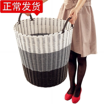 Baskets of dirty clothes Beauty hairdressing towels are stored in bucket barber shop hair salon towel cart hotel dry cleaning shop